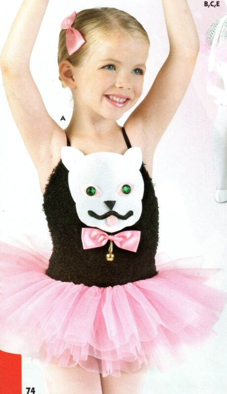 NWT  KITTEN Ballerina  BALLET COSTUME PAGEANT PINK TUTU ORGANDY TUTU 4 CHILD
