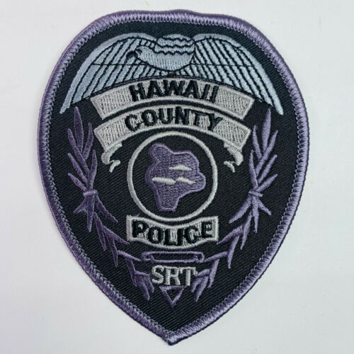 Hawaii County Police SRT Special Response Team Subdued SWAT Tactical HI Patch A1