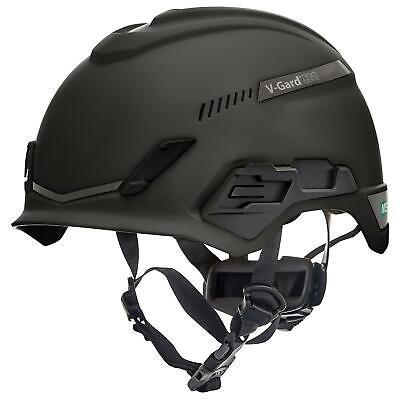 Msa V-gard H1 Vented Safety Helmet Hard Hat With Fas-trac Suspension - Black
