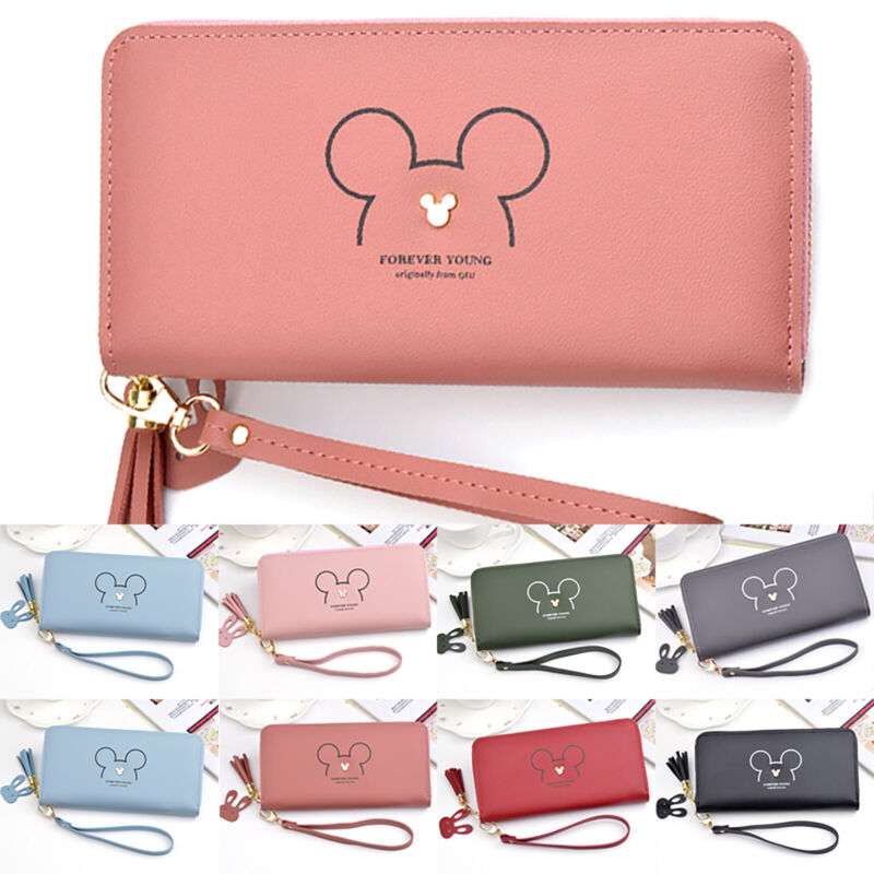 mickey mouse womens girls lovely clutch purse