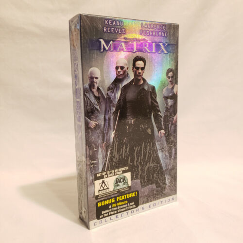 """The Matrix """"Collectors Edition"""" (VHS, 1999) / NEW + SEALED"""