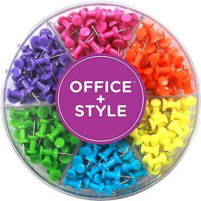 Decorative Multi-colored Push Pins For Home Office Six Colors For Different