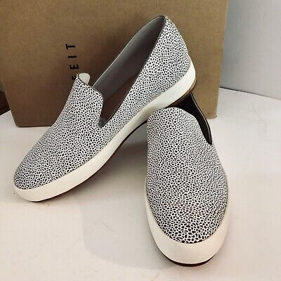 FEIT Hand Sewn Women/'s shoes Blue Speckeled Suede size 35