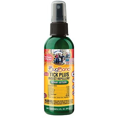 - Bug Band 88314 Tick Plus Insect Repellent Spray Lotion