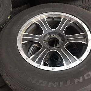FORD RIMS AND TIRES CONTINENTAL 275 65 18