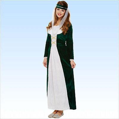 Elegantes Mittelalter Samt Kostüm Gr. 38-42 Adlige Hofdame Königin Prinzessin