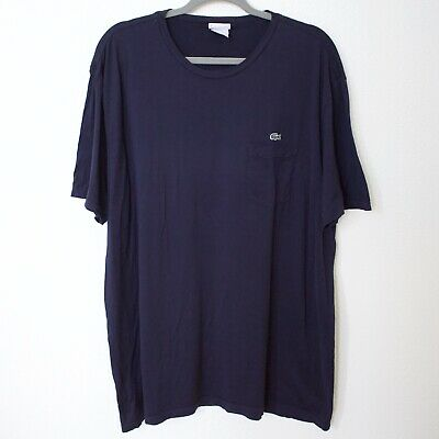 LACOSTE Blue Casual Basic Short Sleeve T-Shirt Size 8 XL