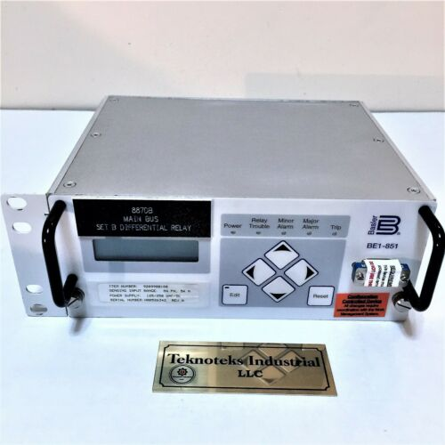 BASLER ELECTRIC BE1-851 / 887DB / 9289900180 DIFFERENTIAL RELAY