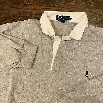 POLO Ralph Lauren Men's Long Sleeve Gray Rugby Shirt Size XL