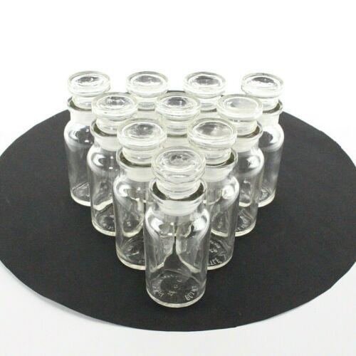 """(10-Pack) 4"""" Vitamin Style Glass Stopper Bottles 2oz./58ml"""