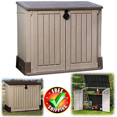 Outdoor Storage Shed Large 4.3 x 2.5' Garden Patio Pool Yard Tool Organizer - 2.5 Outdoor Storage
