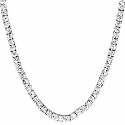 Mens Tennis Necklace 20 Inch 3mm Chain 1 Row Solitaire Lab Diamonds Iced Out New