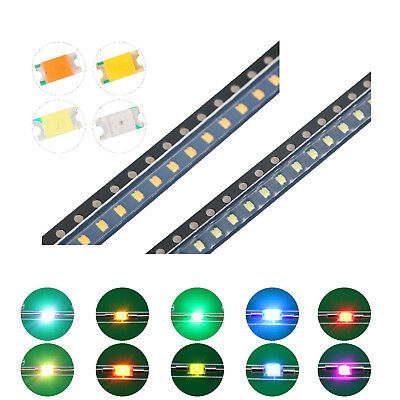 200pcs 10kinds 12063216 Smd Smt Led Diodes White Red Blue Mix Kit Lamp Lights