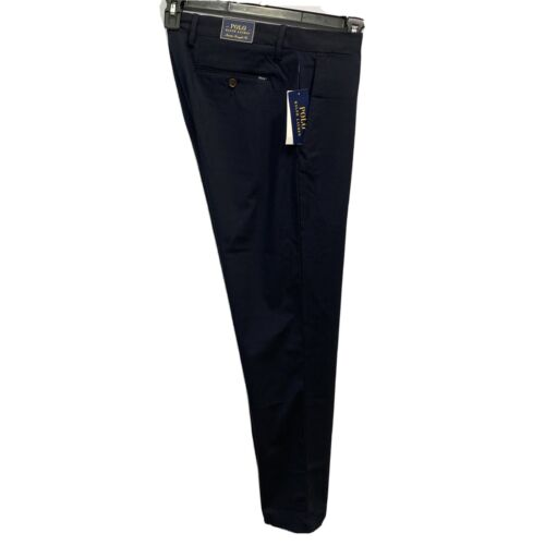 Polo Ralph Lauren Mens Stretch Straight Fit Casual Dress Pants 33×32 Navy Blue Clothing, Shoes & Accessories