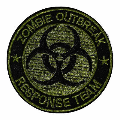 Zombie Outbreak Response Team Olive Embroidered Patch Iron/Sew-On Applique