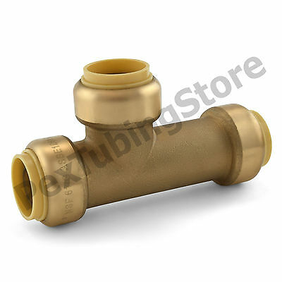 10 34 Sharkbite Style Push-fit Push To Connect Lead-free Brass Slip Tees