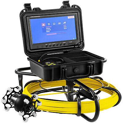 100ft Pipe Inspection Camera Hd 1200 Tvl Drain Sewer Camera 9 Lcd Monitor
