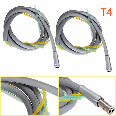2pcs 4 Hole Hose Tube Cable Tubing Connector For Dental Turbine Handpiecemotor