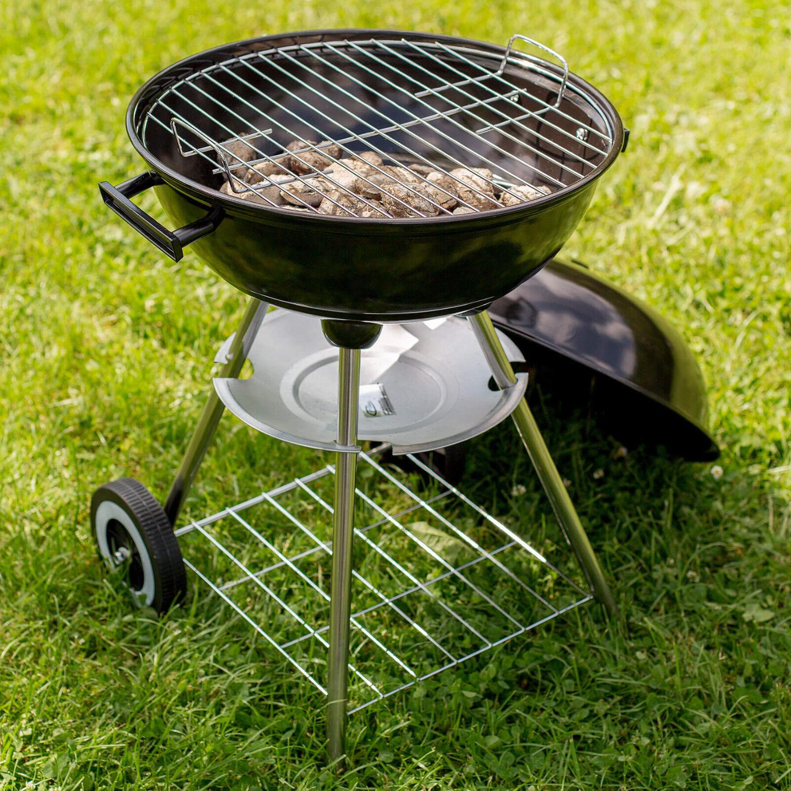 kugelgrill holzkohlegrill standgrill grill grillwagen rundgrill bbq mit rollen eur 25 99. Black Bedroom Furniture Sets. Home Design Ideas