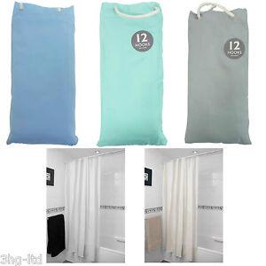 Lisce e moderne tenda doccia vasca da bagno 12 ganci - Vasca da bagno grigia ...