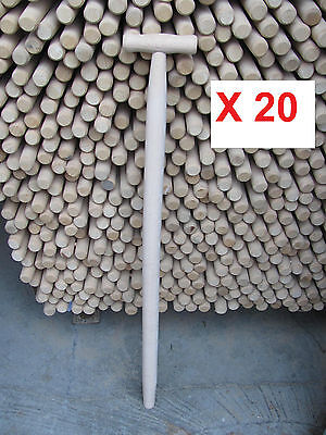 20 X Spade, Fork, Shovel, Replacement  Wood T Shaft / Handle 35