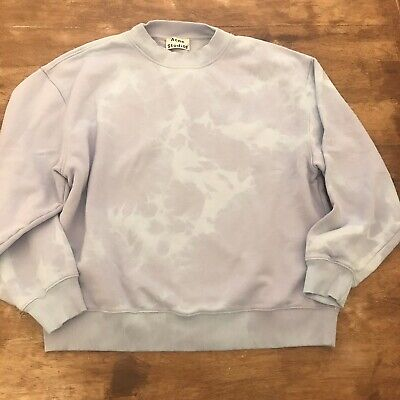 Acne Stufios Blue Purple Tye Dye Yana Sweatshirt Xs