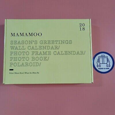 Mamamoo NEW 2018 seasons greeting Sealed all pack full set rare oop photocard