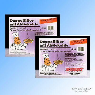 2 Aktivkohlefilter Kohlefilter Fettfilter Filter Universal für Dunstabzugshaube (Kohle-aktiv-filter)
