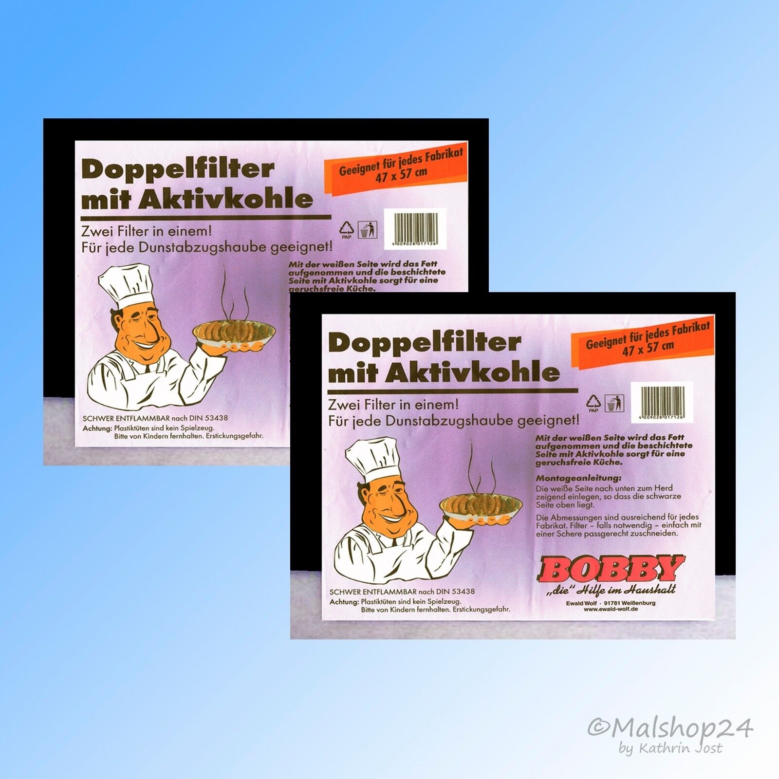 2 Aktivkohlefilter Kohlefilter Fettfilter Filter Universal für Dunstabzugshaube