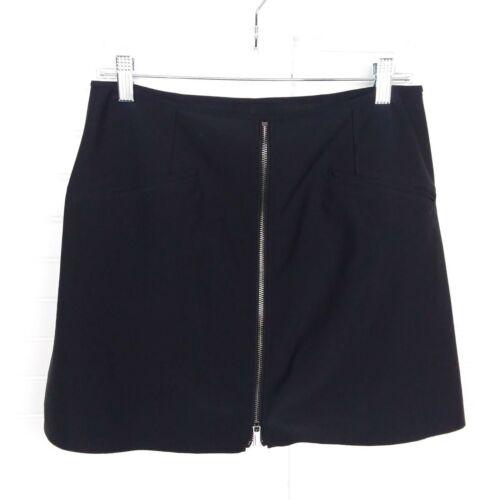 Athleta Size Medium High-Rise Stellar Front Zip Black Built-In Shorts Mini Skort
