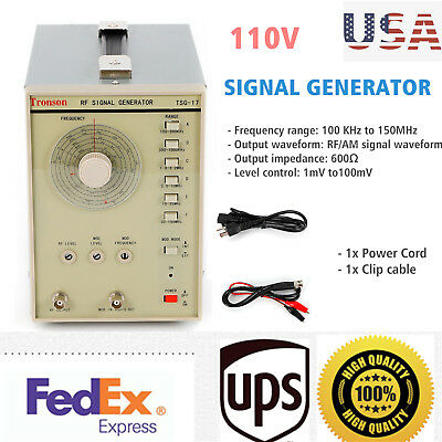 Signal Generator High Frequency 100 Khz To 150mhz Rfam Signal Waveform 110v Usa