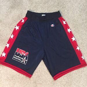 VTG Champion USA Basketball Shorts Mens Med 32-34 Olympic Dream Team 1992 RARE
