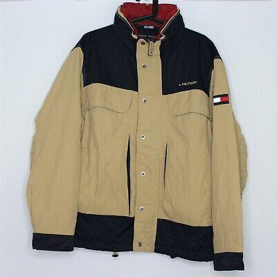 VTG Tommy Hilfiger Mens Medium Spell Out Snap Jacket L258