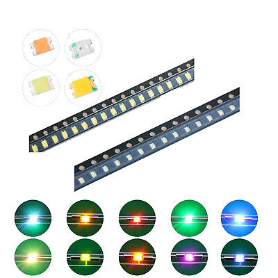 200pcs 10kinds 08052012 Smd Smt Led Diodes White Red Blue Mix Kit Lamp Lights