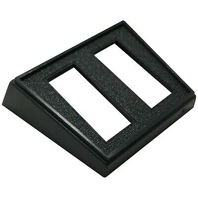 5 Double Rocker Switch Rectangle Black Mounting Panel 1-18 X 12 Hole - Uk