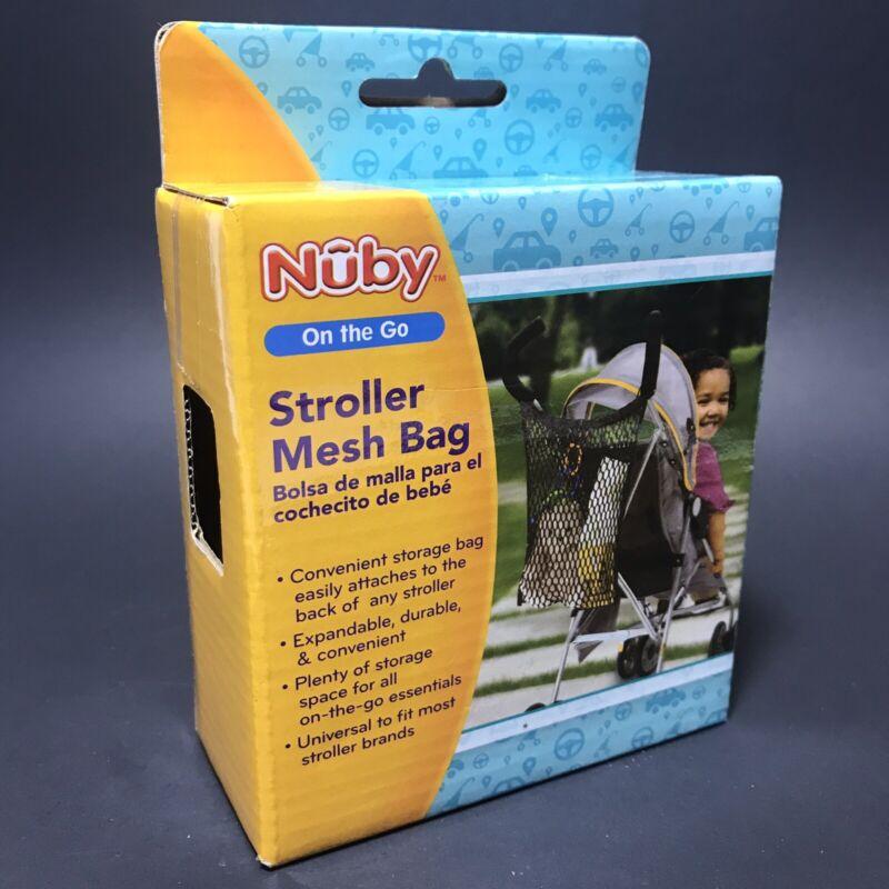 NEW NUBY BABY STROLLER HANGING CARRYING MESH BAG BABY STROLLER ORGANIZER