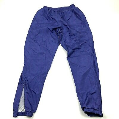 Vintage Wilson Chándal Pantalones Talla Grande L Adulto Calentamiento Nylon Lila