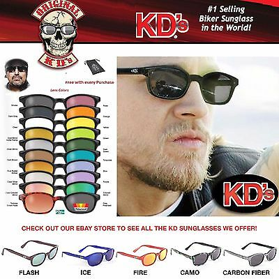 KD's Original Biker Riding Glasses Sunglasses - All Styles and Colors