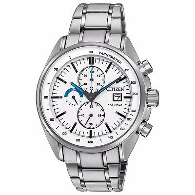 Citizen Eco-Drive Men's CA0590-82A HTM Chronograph White Dial 44mm Sport Watch