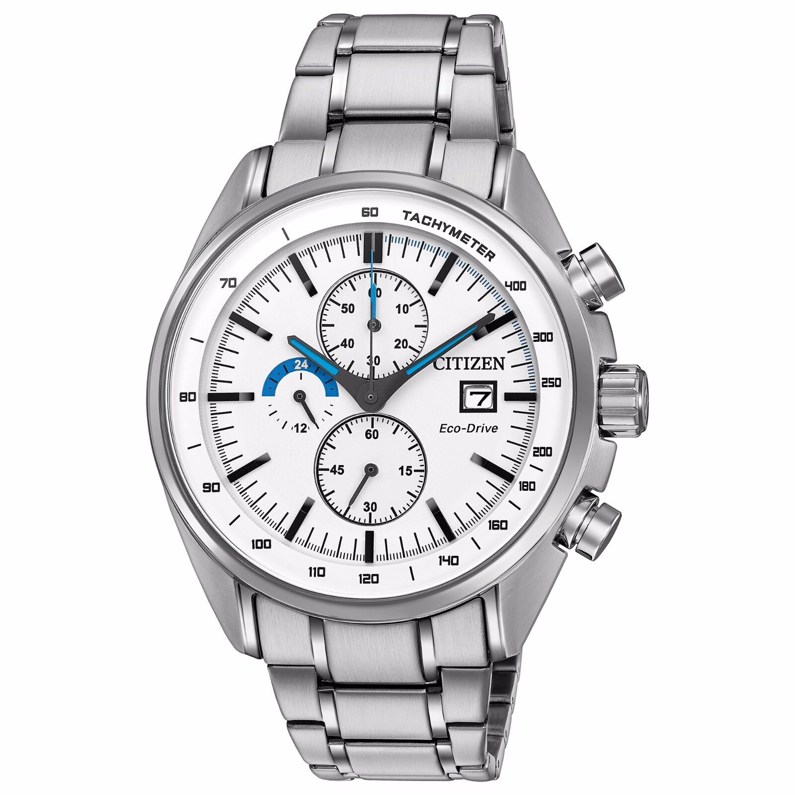 $94.99 - Citizen Eco-Drive Men's CA0590-82A HTM Chronograph White Dial 44mm Sport Watch