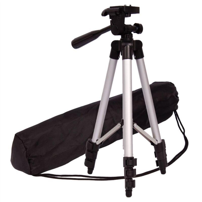 Professional Aluminum Travel Portable Camera Tripod Stand Holder for Live Black