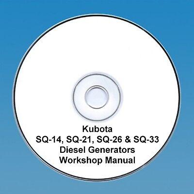Kubota SQ-14, SQ-21 & SQ-26 & SQ-33 Diesel Generators - Workshop manual
