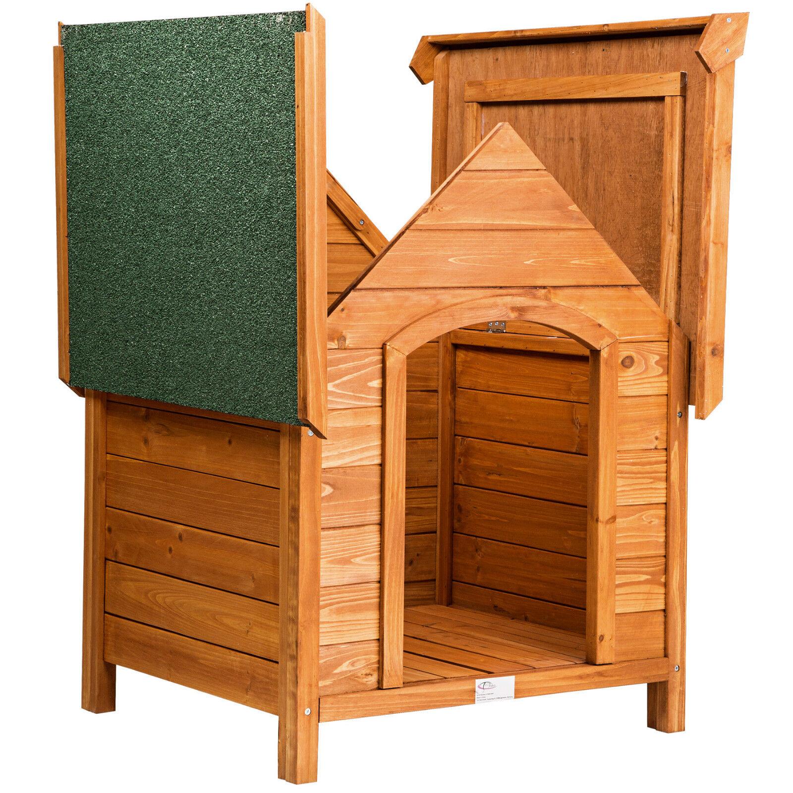 caseta xxl de madera maciza para perro tejado verde casa