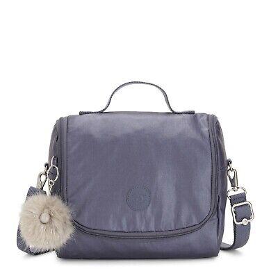 Kipling NWT Kichirou Lunch Bag in Enchanted Purple Metallic