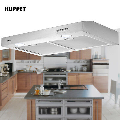 "30"" Under Cabinet Range Hood Stainless Steel Push Panel Kitchen w/ Carbon Filter"