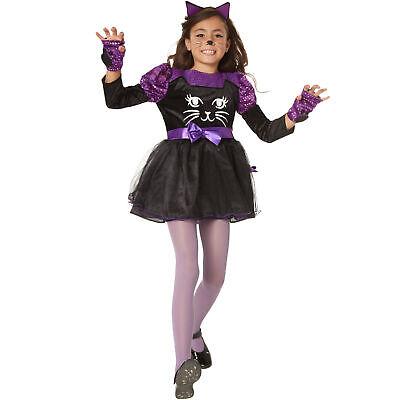 Girls Costume Cute Cat Kitten Kitty Animal Tutu Fancy Dress Carnival Halloween