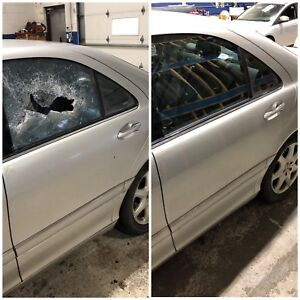 Auto glass replacement $190