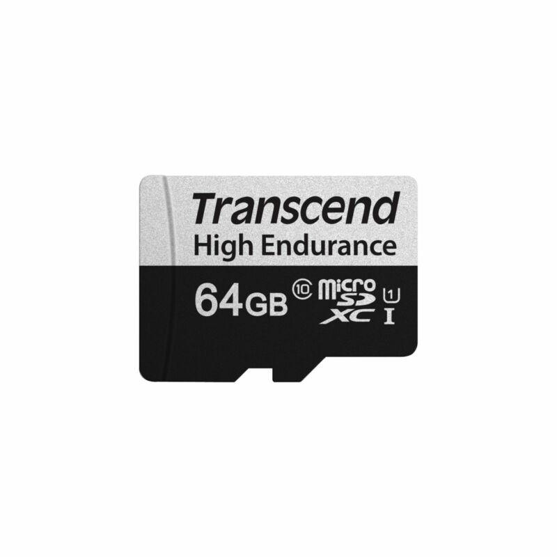 TRANSCEND 350V HIGH ENDURANCE U1 95MB/s Read 45MB/s Write 64