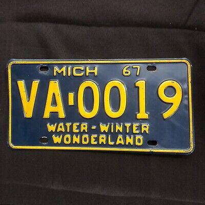 Water Winter Wonderland (1967 Michigan Water Winter Wonderland Vintage License Plate #)