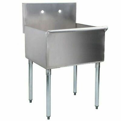 24 X 24 X 14 Stainless Steel Commercial Utility Prep Sink Hand Wash Laundry Tub